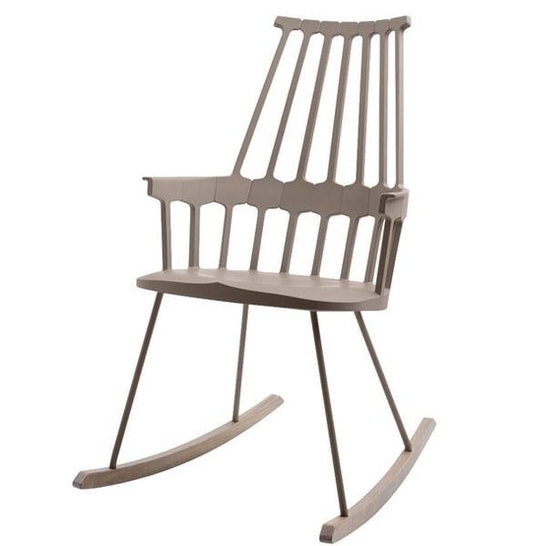 kartell sedia a dondolo comback hazelnut finnish design