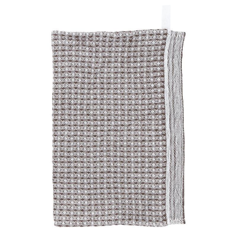 Lapuan Kankurit Maija tiskirätti, valkoinen - ruskea