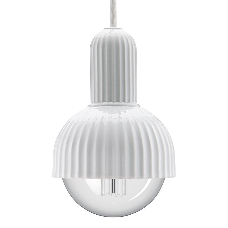 Lyngby Porcelain Lampada a sospensione LP Fitting 02