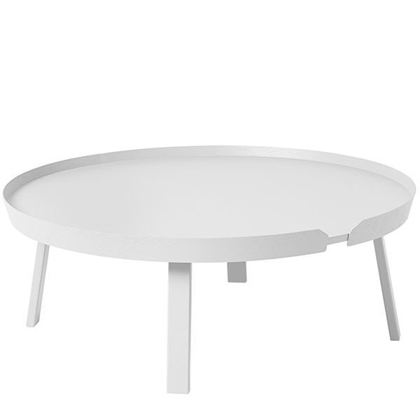 Muuto Around coffee table, XL, white