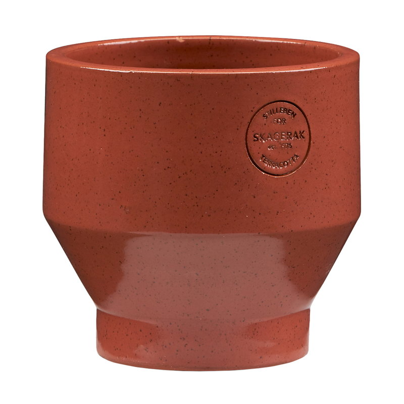 Skagerak Edge pot 15 cm, burned red