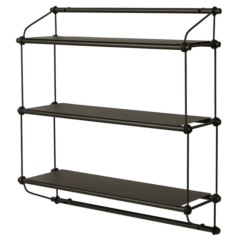 Warm Nordic Parade wall shelf, 3 shelves, green olive