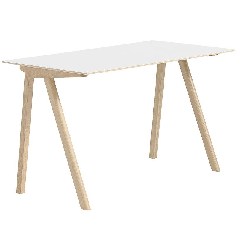 Hay CPH90 desk, matt lacquered oak - white laminate