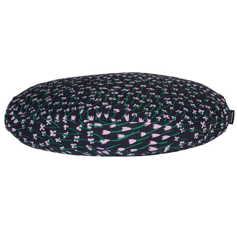 Marimekko Apilainen tyyny, pyöreä, tummansininen-liila-vihreä