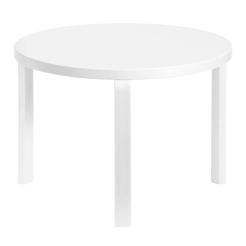Artek Tavolo Aalto 90D, tutto bianco