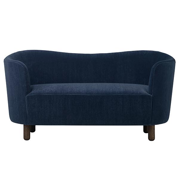 By Lassen Mingle sofa, Marimba 7200, blue - brown oiled oak