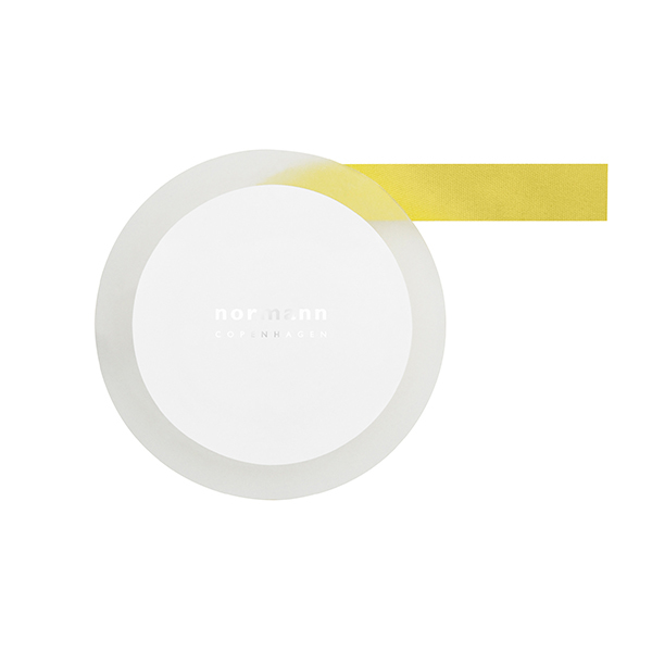 Normann Copenhagen Daily Fiction gift ribbon, lemon curry