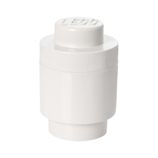 Room Copenhagen Lego Storage Brick 1 round, white