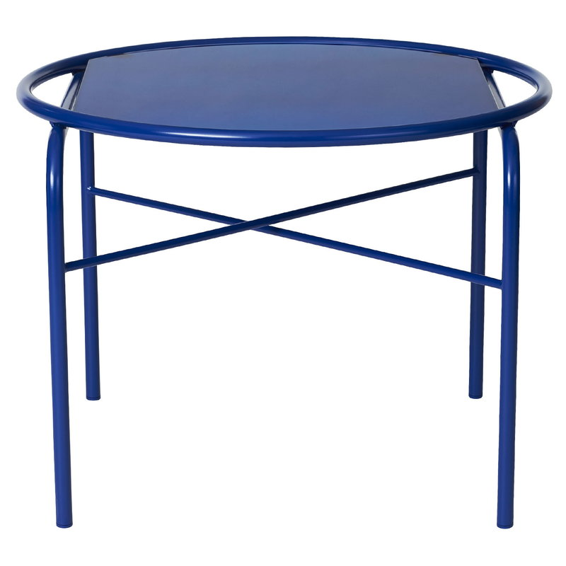 Warm Nordic Secant coffee table, round, cobalt blue