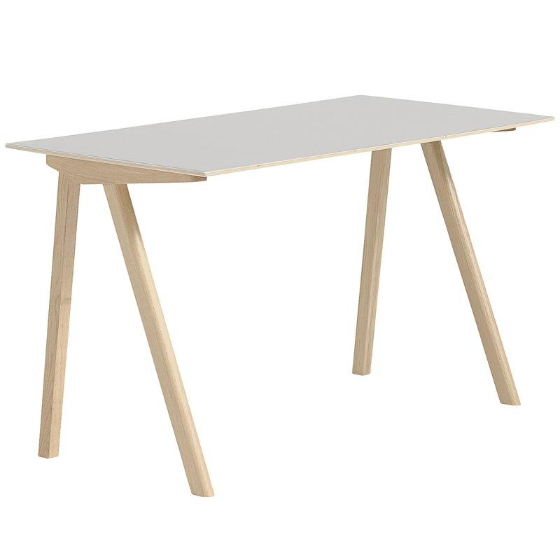 Hay CPH90 desk, matt lacquered oak - off white lino