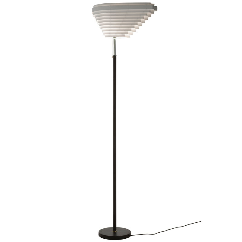 Artek Aalto floor lamp A805, nickel plated brass