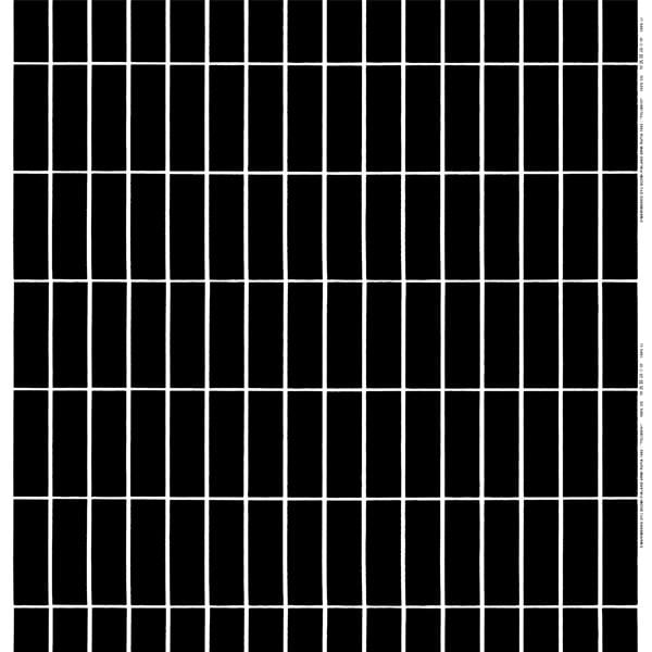 Marimekko  Tiiliskivi fabric, black - white