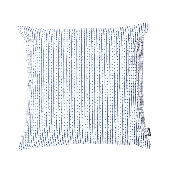 Artek Rivi tyynynpäällinen, 40 x 40 cm, valkoinen-sininen