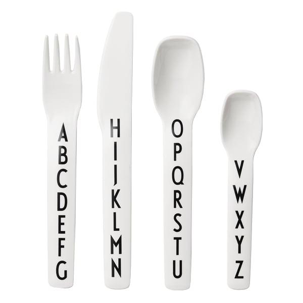 Design Letters Posate in melamina per bambini Arne Jacobsen