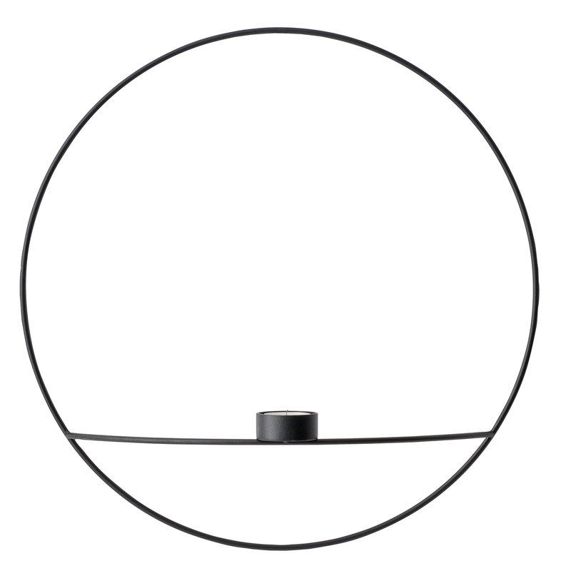 Menu POV Circle tealight holder, L, black