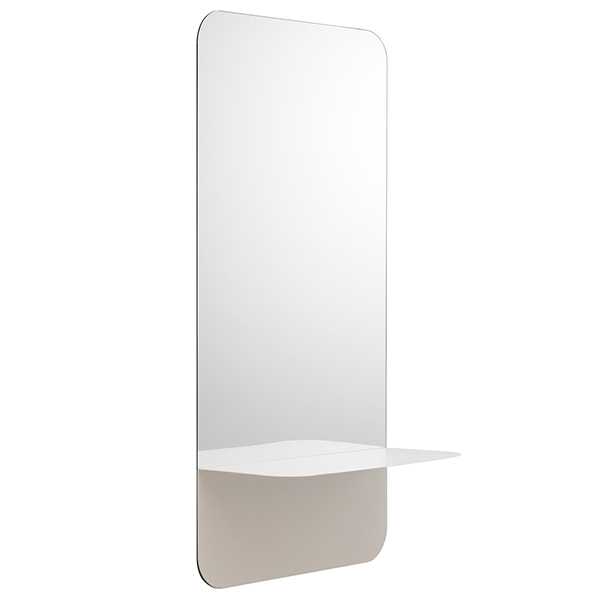 Normann Copenhagen Horizon mirror vertical, white