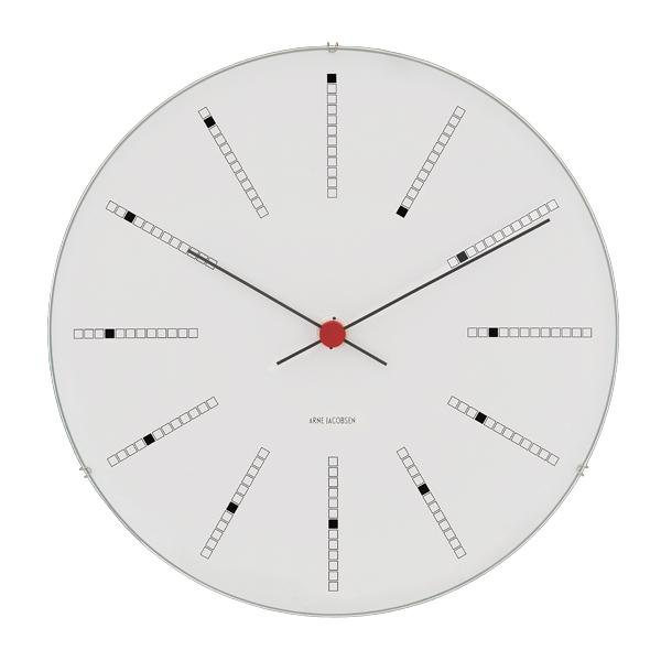 Arne Jacobsen AJ Bankers wall clock 29 cm, white
