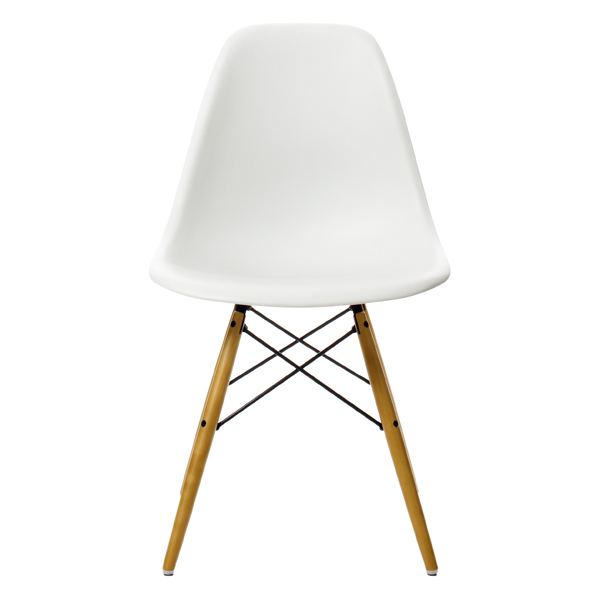 Vitra Eames DSW chair, white - maple
