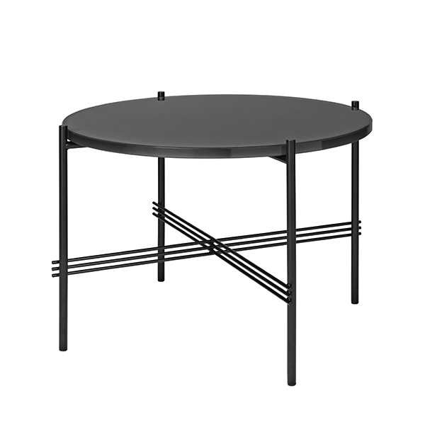 Gubi TS coffee table 55 cm, black - black glass