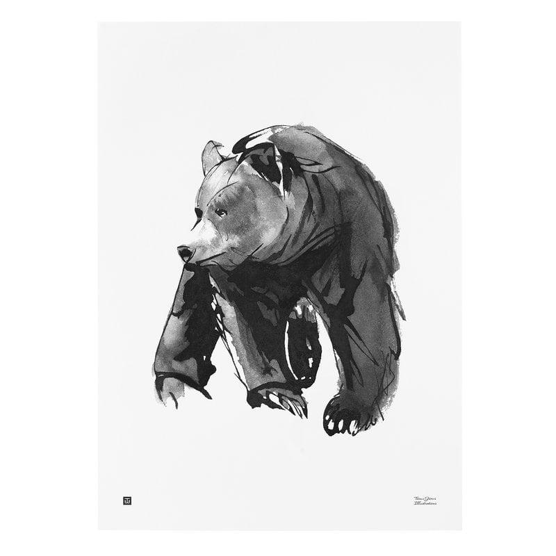Teemu Järvi Illustrations Lempeä karhu juliste, 50 x 70 cm