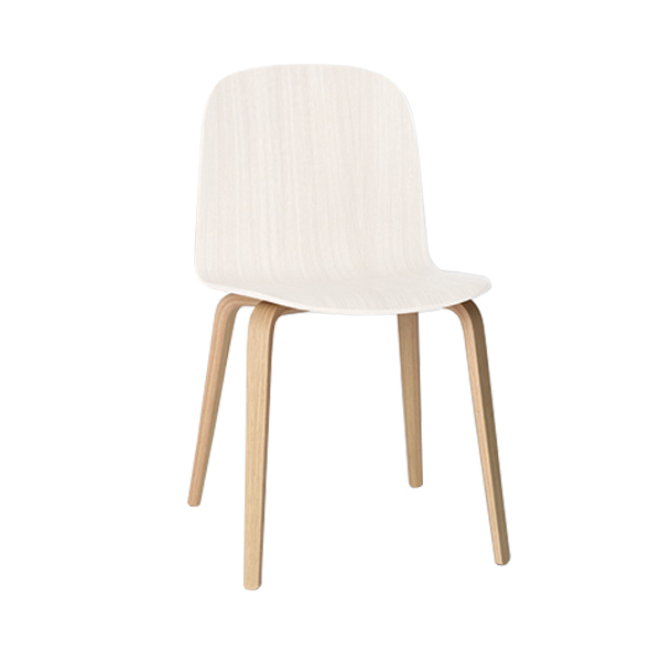 muuto visu chair wood frame white natural finnish design shop