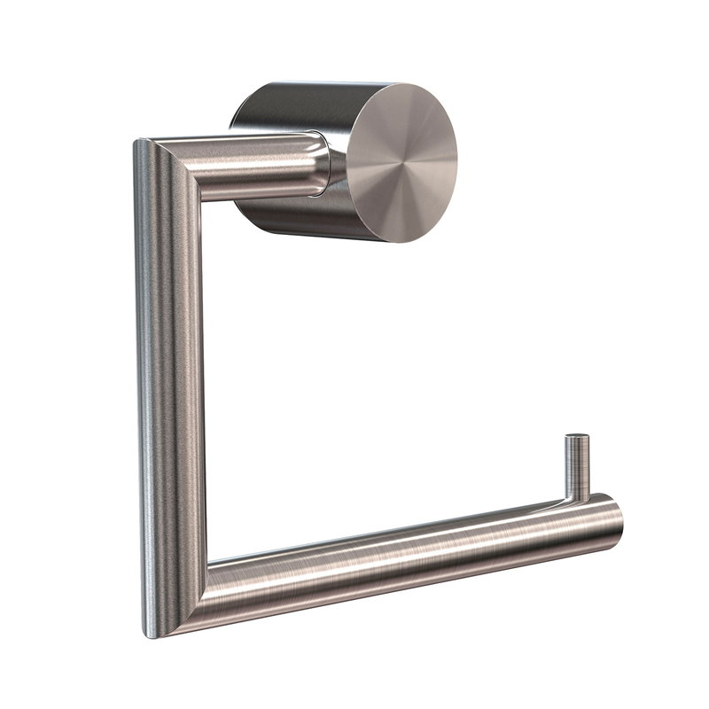 Frost Nova2 toilet paper holder 1, brushed steel
