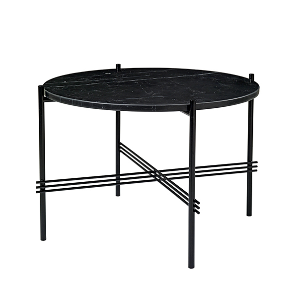 Gubi TS coffee table, 55 cm, black - black marble