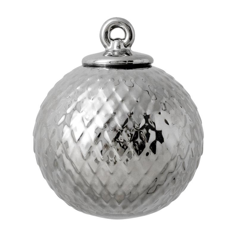Lyngby Porcelain Rhombe posliinipallo, hopea