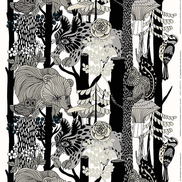 Marimekko Tessuto Veljekset, grigio