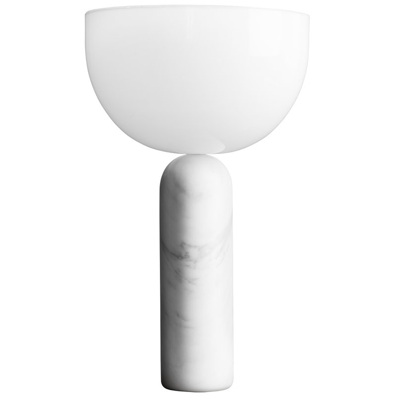New Works Kizu Table Lamp Large White Marble Finnish Design Shop