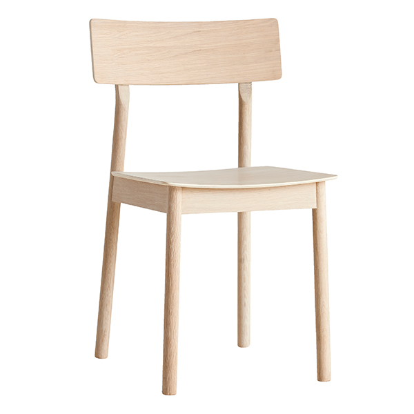 Woud Pause dining chair, white pigmented oak