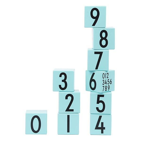 Design Letters AJ Puupalikat 0-9, turkoosi