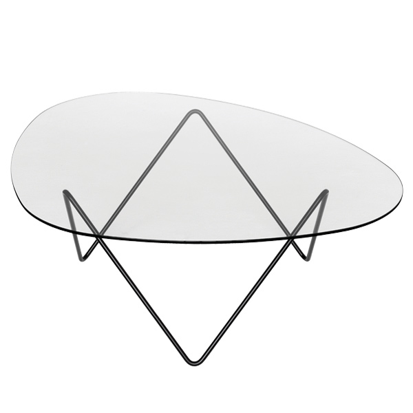 Gubi Pedrera coffee table, black