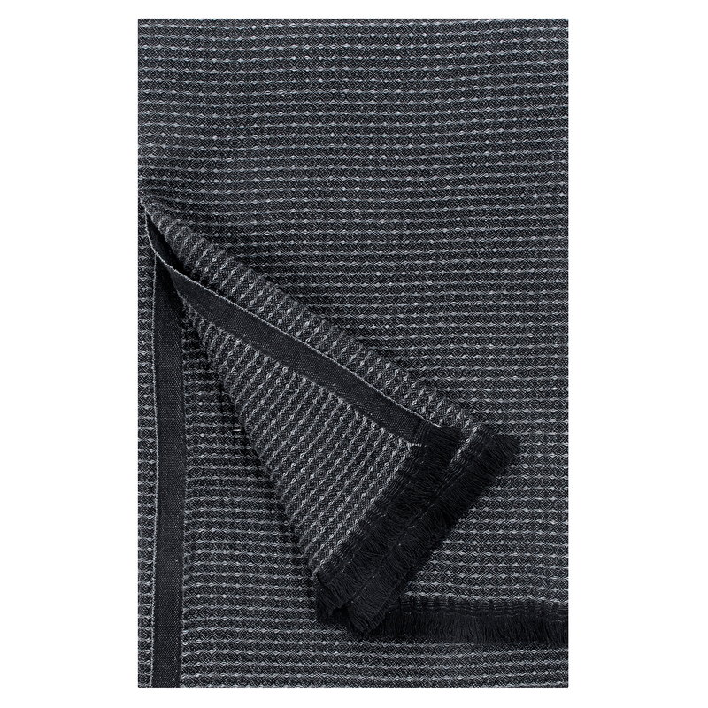 Lapuan Kankurit Laine hand towel, small, black - graphite