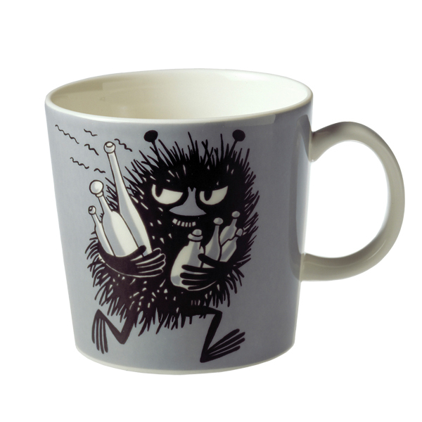 Arabia Moomin mug, Stinky, grey