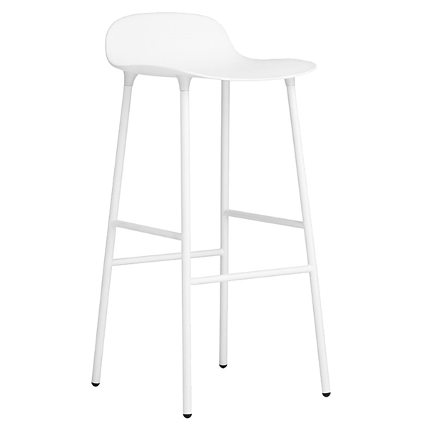 Swell Form Barstool 75 Cm Steel Base White Creativecarmelina Interior Chair Design Creativecarmelinacom