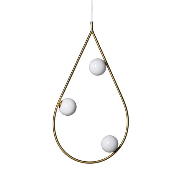 Pholc Pearls 80 pendant, brass