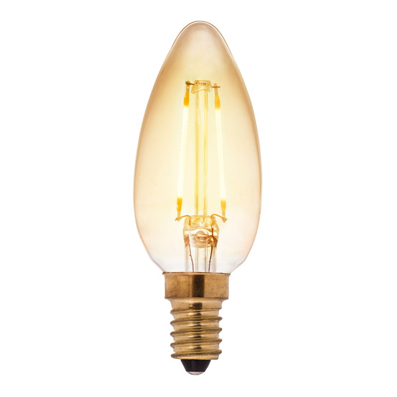 Airam Lampadina a candela Decor Amber LED 5W E14 400lm, dimmerabile
