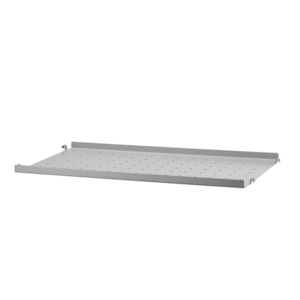 String String metal shelf, 58 x 30 cm, low, grey