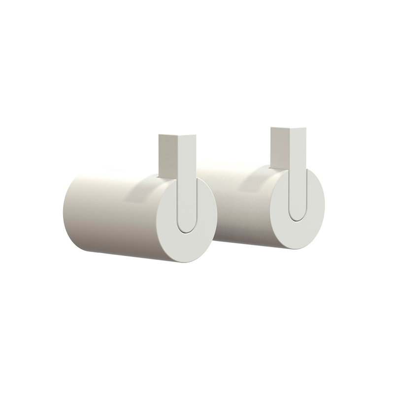 Frost Nova2 wall hook 6, set of 2, white