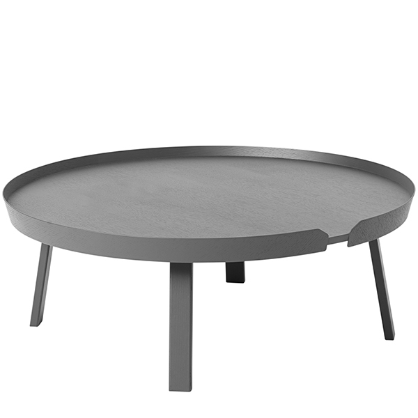 Muuto Around coffee table, XL, dark grey