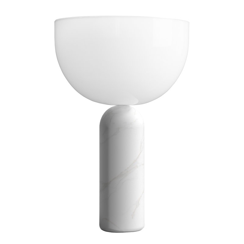 New Works Lampada da tavolo Kizu, piccola, marmo bianco
