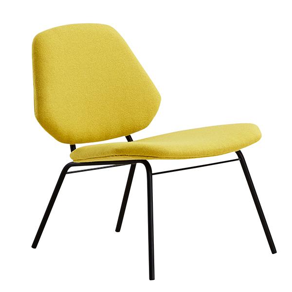 Woud Lean lounge chair, yellow