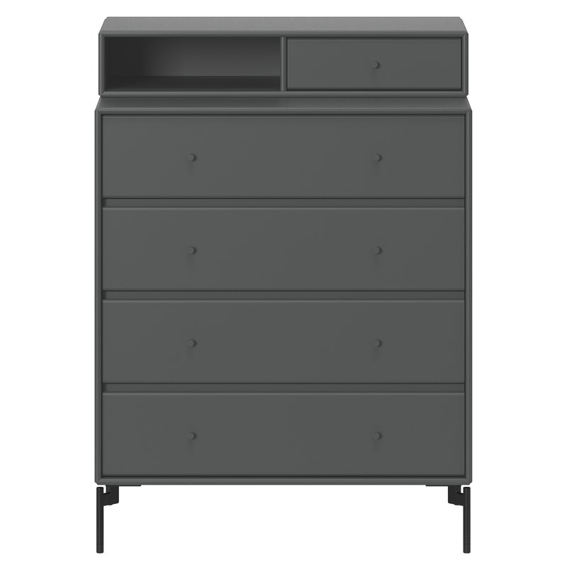 Montana Furniture Keep chest of drawers, black legs - 04 Antracite