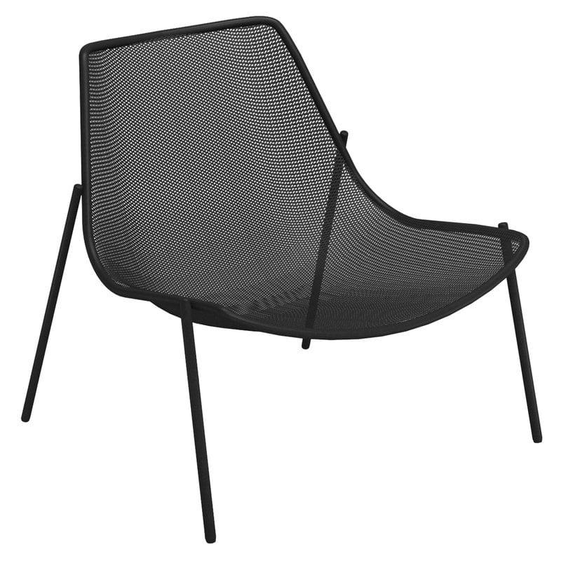 Emu Round lounge chair, black