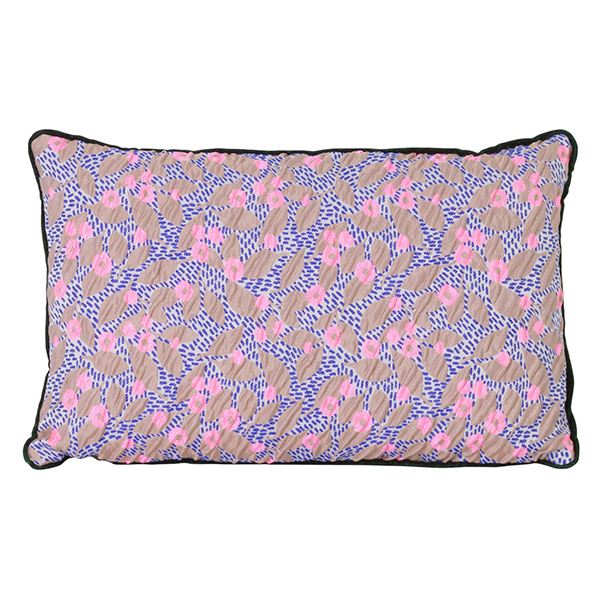Ferm Living Salon Cushion, 40 X 25 Cm, Flower, Sand