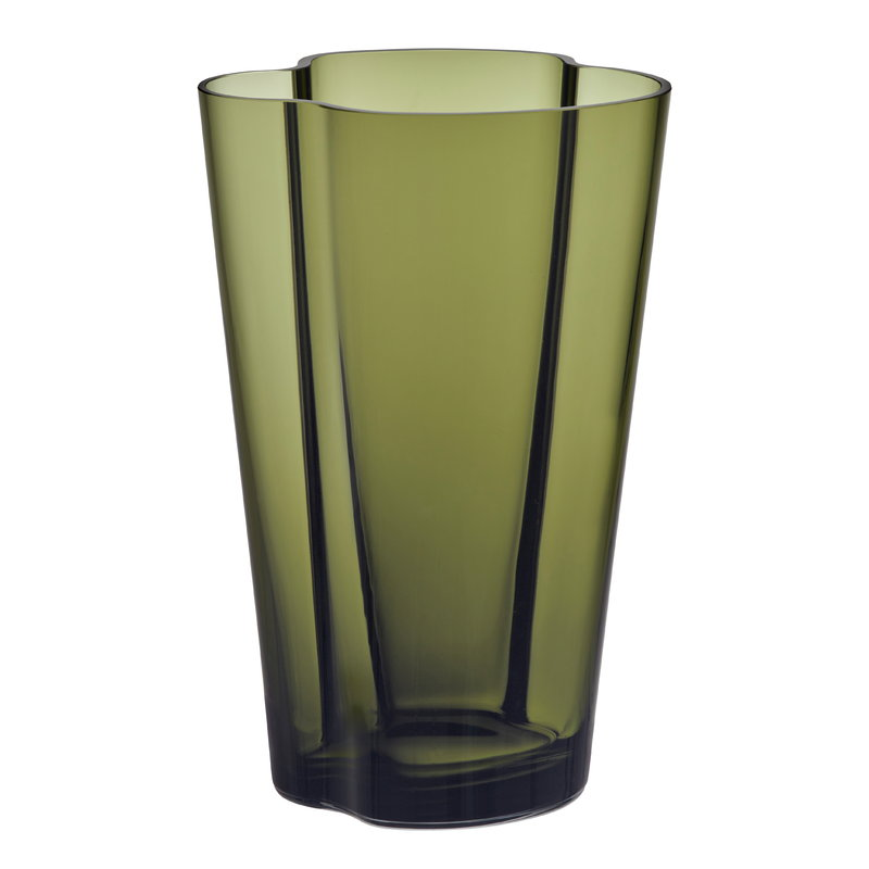 iittala aalto vase 220 mm moss green finnish design shop. Black Bedroom Furniture Sets. Home Design Ideas
