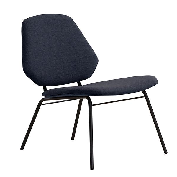Woud Lean lounge chair, dark blue