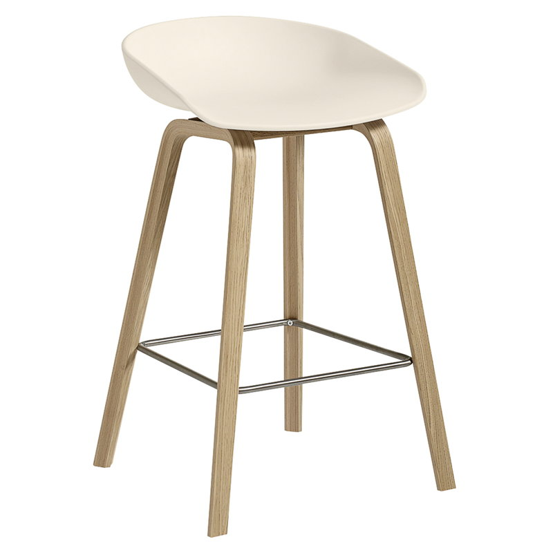 Hay About A Stool AAS32, 64 cm, cream white - matt lacquered oak