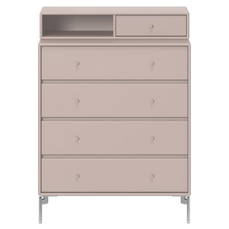 Montana Furniture Keep chest of drawers, Snow legs - 137 Mushroom